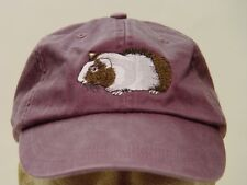 GUINEA PIG HAT ADAMS SOLID COLOR LADIES MEN BASEBALL CAP - Price Embroidery