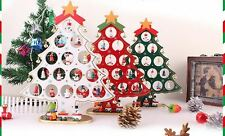 Wooden Christmas tree gift decoration rtable star Ring Santa reindeer snowman