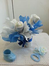 Mini Bouquet Diaper Cake Baby Shower Table Centerpiece Gift Unisex