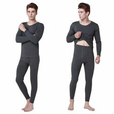 Mens Tops and Bottom Pants Long Johns Underwear Thermal Set Winter Sleepwear