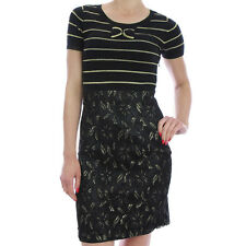 NWT YUMI Ladies Y1127 Sparkling Splendour Knit Dress Black
