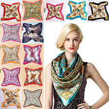 Women Scarf Wrap Shawl Stole Scarves Head Silk Square Classical Horse Scarf S74