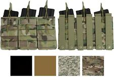 Military M16 30 Round STANAG Open Top Easy Access M4 Triple Magazine MOLLE Pouch