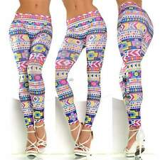 Hot Sexy Pattern Print Women Tights Stretch Skinny Pencil Pants New Trouses