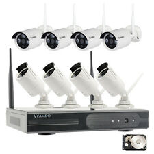 8CH Wireless WiFi 720P IP camera Complete CCTV Home Surveillance Security System
