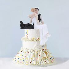 New Funny Wedding Cake Toppers Figurine Bride Groom Marriage Gift Topper G7A3
