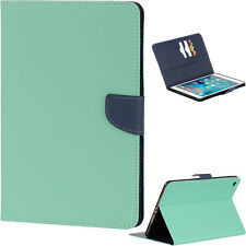 For Apple iPad Mini 4th Gen - Leather Card Wallet Diary Flip Pouch Magnetic Case
