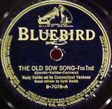 RUDY VALLEE The Old Sow Song BLUEBIRD 78-7078 With Her Head Tucked Under Her Arm