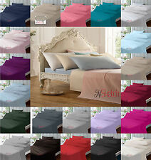 EXTRA DEEP FITTED 40CM FITTED 23CM FLAT  LUXURY  BED SHEETS PERCALE POLYCOTTON