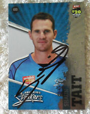 """SHAUN TAIT CRICKET SIGNED IN PERSON BBL BIG BASH CARD """"BUY GENUINE"""""""