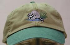 RACCOON WILDLIFE HAT LADIES MEN SOLID COLOR BASEBALL CAP - Price Embroidery
