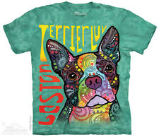 Boston Terrier T-Shirt by The Mountain. Big Face Dog Pet Animal Sizes S-5XL NEW