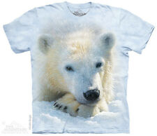Polar Bear Cub Kids T-Shirt from The Mountain. Big Face Animal Child Sizes NEW