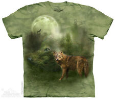 Forest Spirit T-Shirt by The Mountain. Moon Hungry Wolves Sizes S-5XL NEW