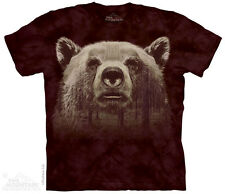 Bear Face Forest T-Shirt by The Mountain. Big Face Wild Animal Sizes S-5XL NEW