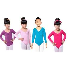 Multi-Colors Child Girl Long Sleeve Leotard Ballet Dance Gymnastics Costume G78