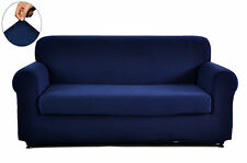 Polyester Spandex Jacquard  2-Piece Sofa Couch Seat Slipcovers Covers