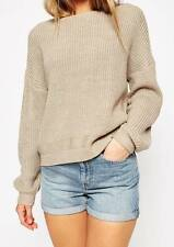 ASOS NEW OATMEAL BEIGE ULTIMATE CHUNKY KNIT JUMPER TOP RRP £28 UK SZ 4-18