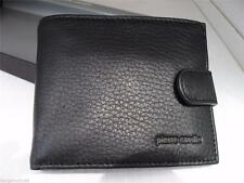 NIB Pierre Cardin Genuine Italian Leather Mens Bifold/trifold Black/Brown Wallet