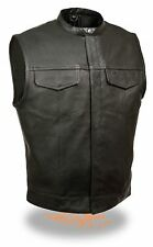 Leather Vest Leather Motorcycle Cowl Biker´S Vest Sizes S-5XL selecable! NEW
