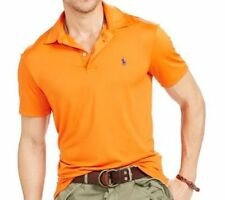 New Men Polo Ralph Lauren Performance Lisle Polo Shirt MSRP $98.5 100% AUTHENTIC