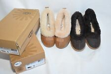UGG Australia Rylan Women's Suede Sheepskin Slippers Mocassin Size 5 new Brown