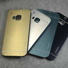 For HTC One M8 M9 A9 E8 Aluminium Metallic Brushed Hard case cover