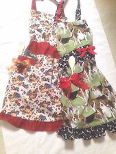 New Handmade Logenberger Basket or Green Beagle Dog Custom Aprons -One Size