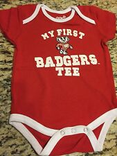 WISCONSIN BADGERS BABYSUIT -ALL SIZES- ALL TEAM COLORS- BRAND NEW