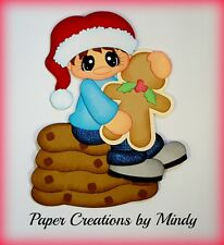 Craftecafe Mindy Christmas Cookies boy premade paper piecing for scrapbook