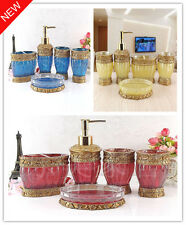 Sets 5pcs Modern Accessories Bathroom Accessory Dish Luxury Soap Holder