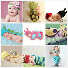 Baby Photography Prop Costume Crochet Hat Knit Girls Boys NewBorn Clothes