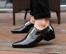 Stylish new Mens shiny patent leather dress shoes hot formal business shoes size