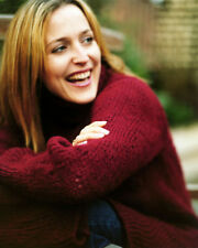 GILLIAN ANDERSON LOVELY SMILE RED SWEATER RARE SHOOT PHOTO OR POSTER