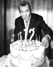 ED SULLIVAN WITH 12 YEAR BIRTHDAY CAKE PHOTO OR POSTER