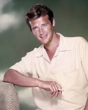ROGER MOORE YOUNG 1950'S PUBLICITY PORTRAIT SMOKING PHOTO OR POSTER