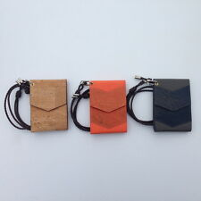 Necklace Card Cases, Natural Cork Business & Credit Card Cases and Holders