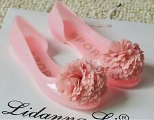Sweet Lady's Candy Color Jelly Flat Sandals Bohemian Flowers Fish Head Shoes D64