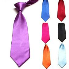 Classic Solid Color Plain Jacquard Woven Boys Mens Party Wedding Tie Necktie H95