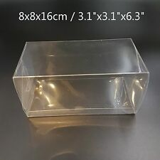 Clear Plastic PVC Boxes Party Favor Wedding Tuck Top Display Box 8x8x16cm