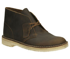 Clarks Originals Mens Desert Boot Brown Beeswax Leather Lace Up Boot