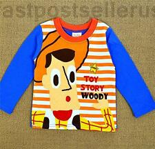 Woody Toy Story New Boys Kids Toddler Long Sleeve Cotton T-shirt Top Tee