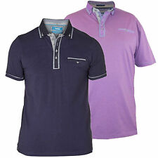 D555 Mens Branded King Size S/Sleeve Polo Shirt - Available in 2 Colours, BNWT