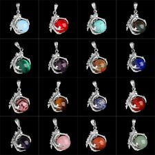 Hot Sell Silver Plated Gemstone Pendant Dragon Claw Wrap Ball New Beads1 Pcs S82