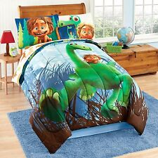 Good Dinosaur 6Pc TWIN/7Pc FULL Reversible Comforter Sham Sheets & Throw Pillow