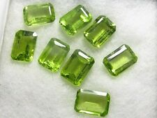 Natural Peridot Green Octagon Calibrated Size Green Color 4x6mm- 8x10mm Gemstone