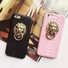 Rock Lion Head Ring Hardshell Case Stand Cover Skin For iPhone 5S 6S 7 Plus