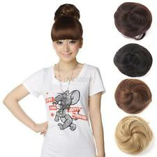 Hair Extension Pony Tail Women Clip In On Hair Bun Hairpiece Scrunchie Hot U66