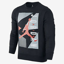 Nike Air Jordan Block Fleece Crewneck Sweatshirt Black/Red 658311-010 sz. M-XL