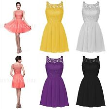 New Short Mini Chiffon Cocktail Homecoming Dress Formal Bridesmaid Evening Dress